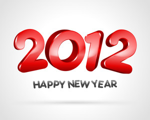 Happy new year 2012 3d message