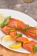 Salmon skewer