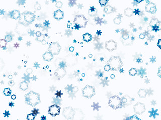 Illustrated snow background