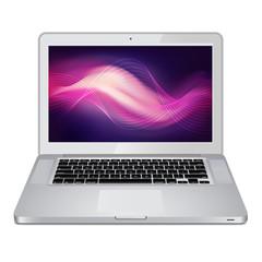 Notebook silver color vector