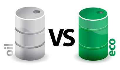 oil versus eco concept illustration