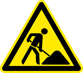 Warnschild Warnzeichen Baustelle Schild Symbol