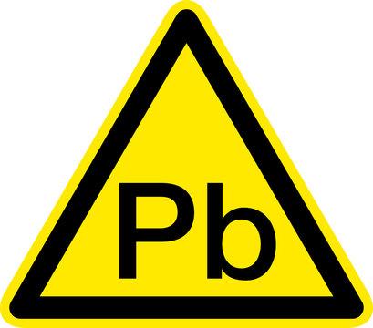 Warnschild Warnzeichen Pb Plumbum Blei Giftstoff