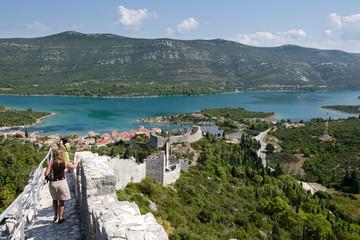 Second world longest defense wall in Ston, Croatia.