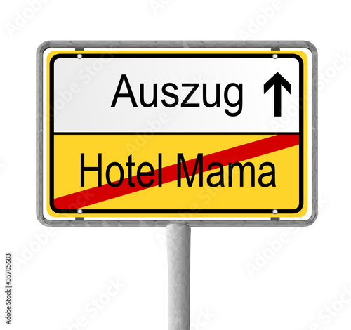 schild auszug aus hotel mama stockfotos und lizenzfreie. Black Bedroom Furniture Sets. Home Design Ideas