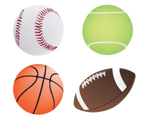 Four different ball