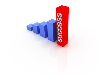 Business Graph. Success