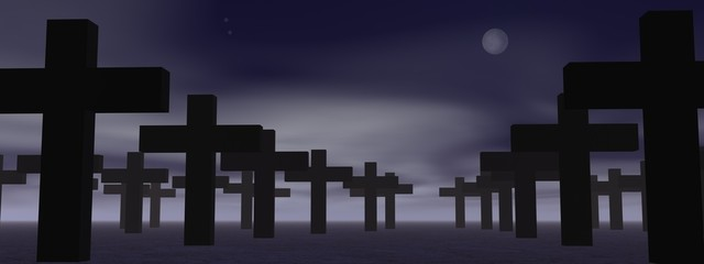 Cemetery by night