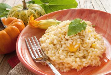 pumpkin risotto - risotto di zucca