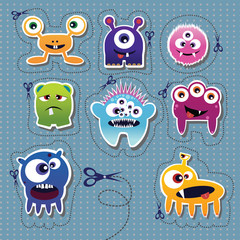 Poster de jardin Creatures Monster collection