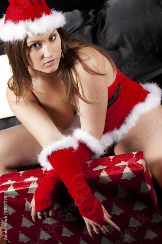 sexy mere noel photo libre de droits sur la banque d 39 images image 35727840. Black Bedroom Furniture Sets. Home Design Ideas
