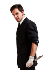 Mann mit Messer