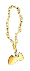 braccialetto con cuori in oro
