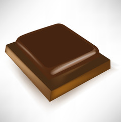 single chocolate piece in different perspective