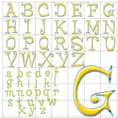abc alphabet background fancy face design