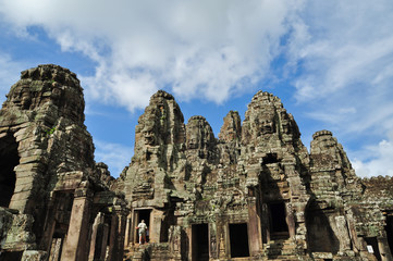 Ta Phrom ancient castle in the city of Angkor Wat in Siem Reap,