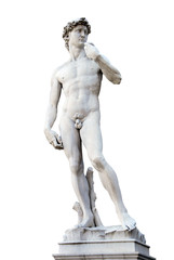 David Statue isolated