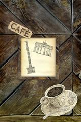 Berlin cafe background