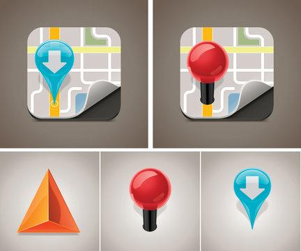 Vector map icon set
