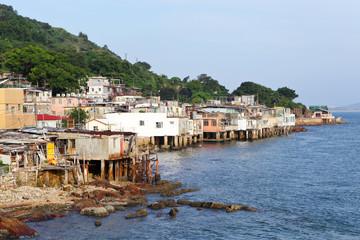 fishing village of Lei Yue Mun in Hong Kong