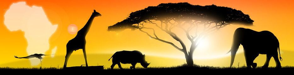 Illustration african landscape