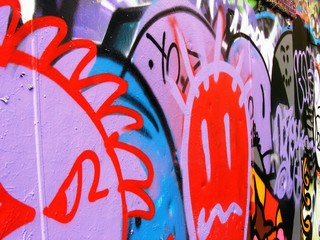 Modern multi-colored urban tag art