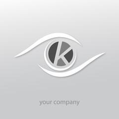 logo k, oeil, k