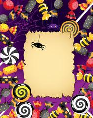 Halloween sweets card