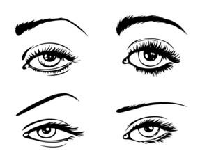 4 female eyes