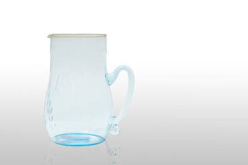 empty crystal jug with reflection
