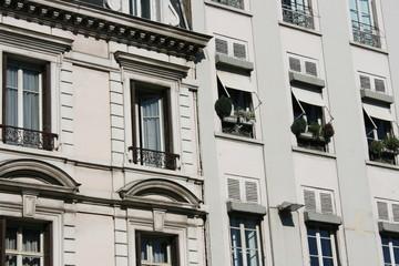 façades d'immeubles