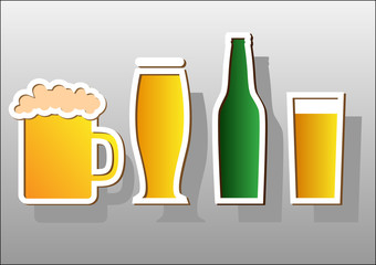 Beer stickers.