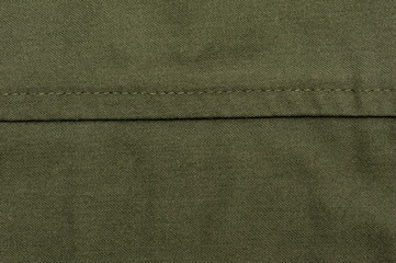 green sewing fabric