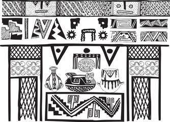 American culture background. Vector illustration