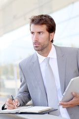 Businessman on business travel