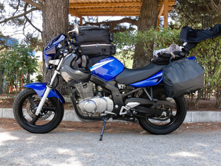 Touring Motorcycle On The Road