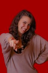 Obraz Donna woman che indica business we want you Zio Sam carriera - fototapety do salonu