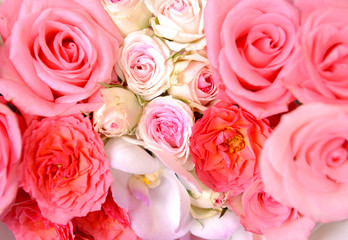 Mixed roses background