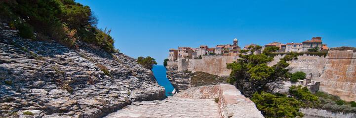 Weg Festung Bonifacio Korsika Panorama