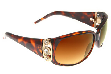 Isolated fashion Brown sunglasses