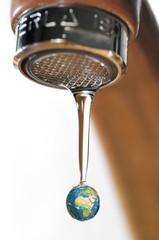 Gaspillage mondial des ressources en eau.