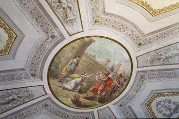 Interior Estense castle. Ferrara. Emilia-Romagna. Italy.