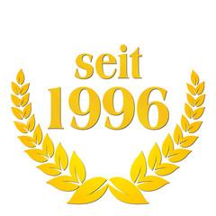seit 1996 jubiläum lorbeerkranz lorbeer gold