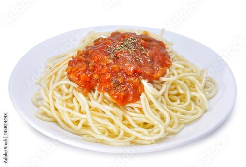 plato de spaghetti a la bolo esa fotos de archivo e