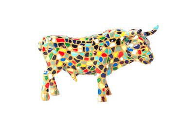 checked bull