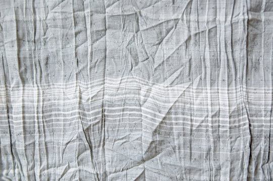 wrinkled gray fabric