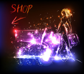 shop light design template