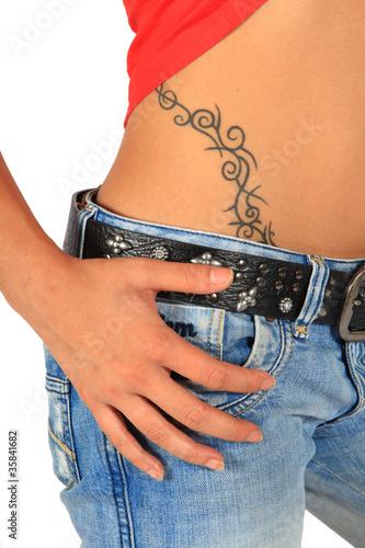 Hanche tatouage photo libre de droits sur la banque d 39 images image 35841682 - Tatouage femme hanche ...