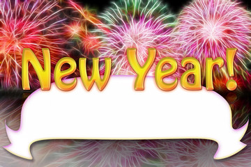new year simple frame