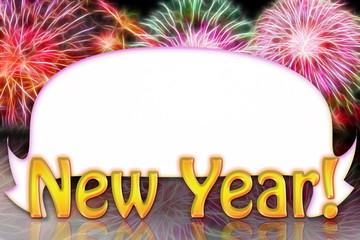 new year frame